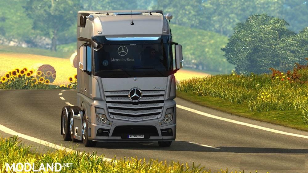Mercedes Benz Actros 2014i Roadstars mod for ETS 2
