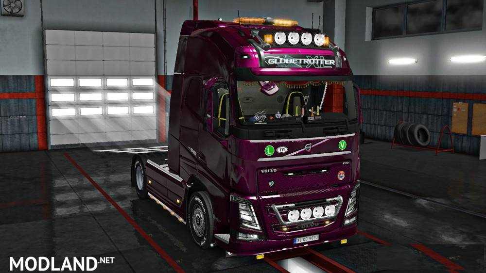 New Volvo FH16 Accessories + Interior v 4.5 [1.31x] mod for ETS 2