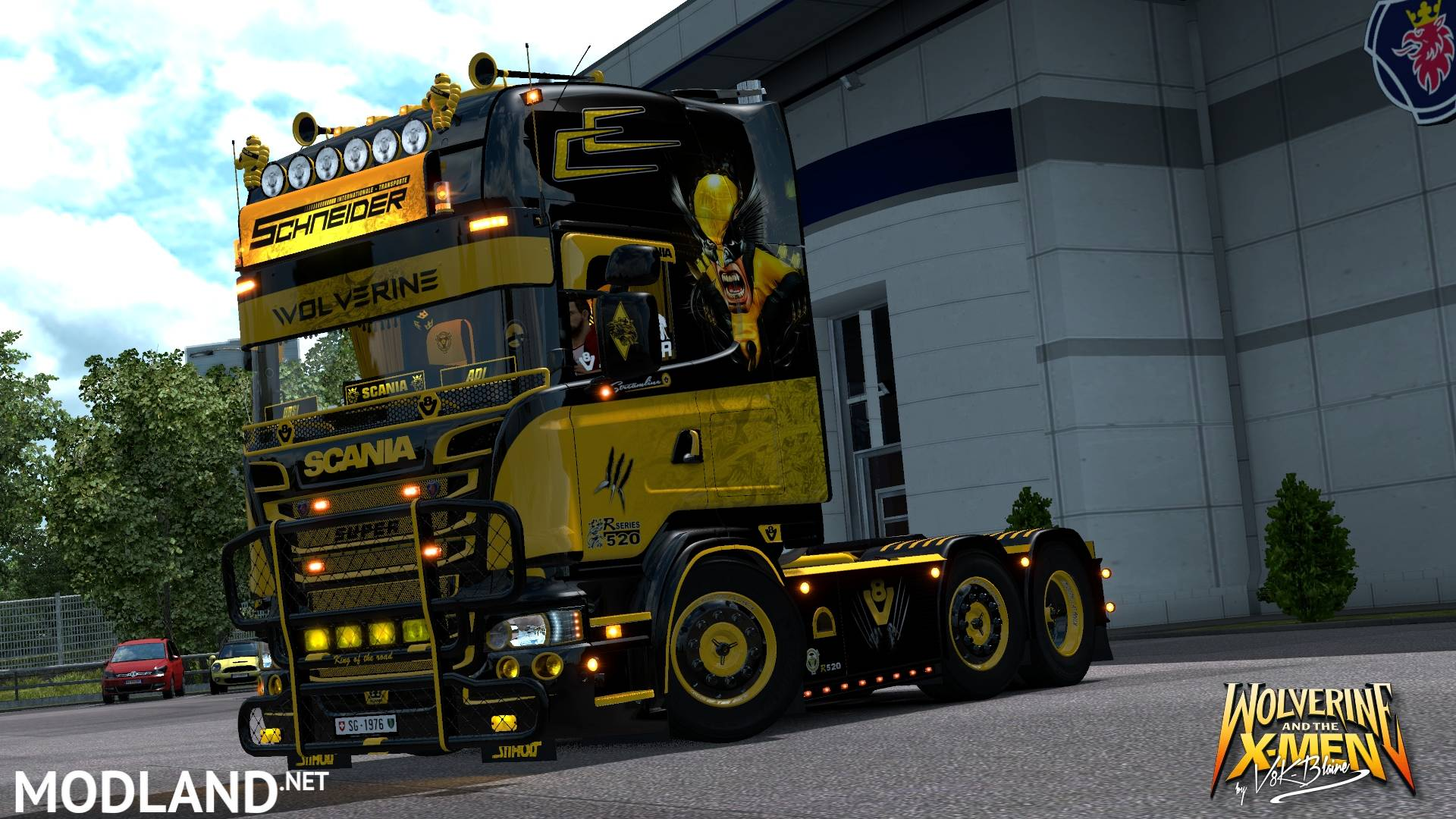 scania r520 v8k wolverine v5 0 mod for ets 2. Black Bedroom Furniture Sets. Home Design Ideas