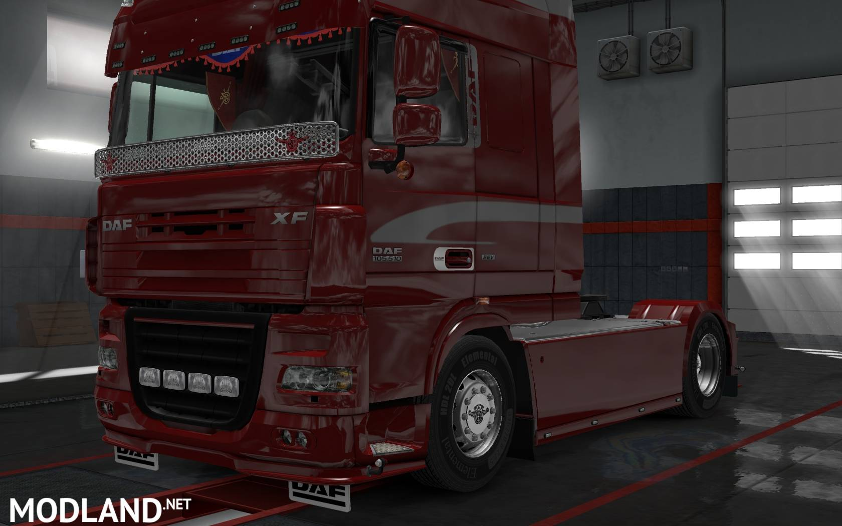 DAF XF 105 by vad&k (1 28 х) mod for ETS 2