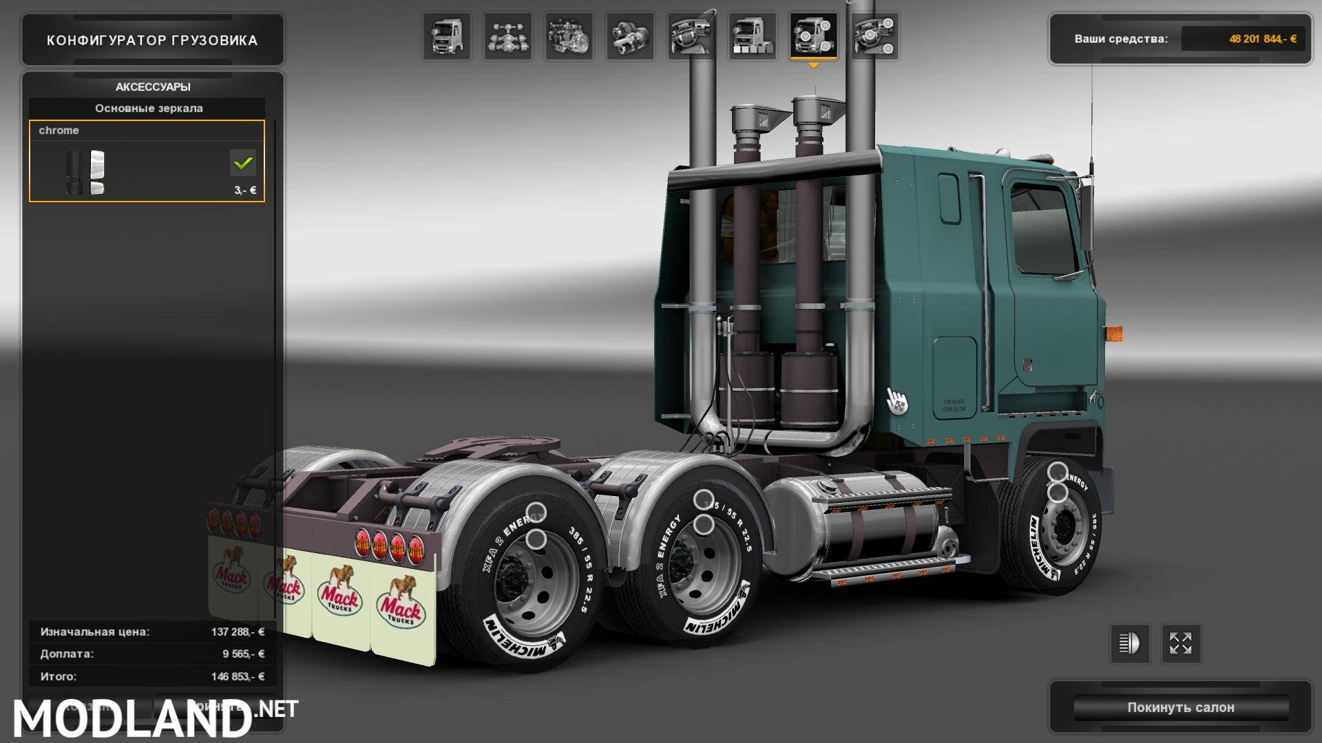 Mack Ultraliner V1 1 For V1 24 Mod For Ets 2