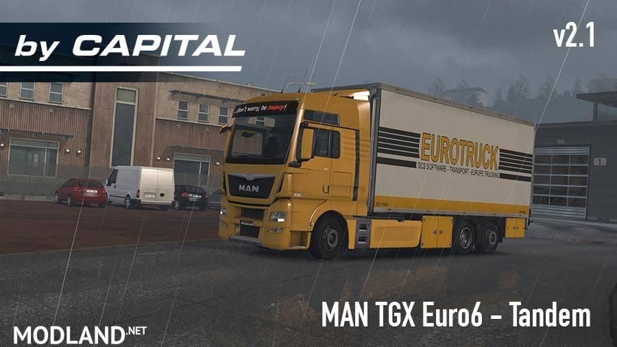 MAN TGX Euro6 Tandem