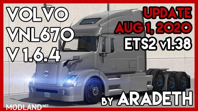 Volvo VNL 670 v 1.6.4 by ARADETH (ETS2 v1.38)