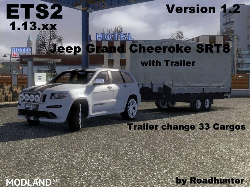 Grand Cherokee SRT8 v1.2 with Trailer