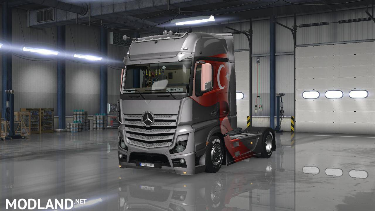 mercedes benz actros mp4 tuned mod for ets 2. Black Bedroom Furniture Sets. Home Design Ideas