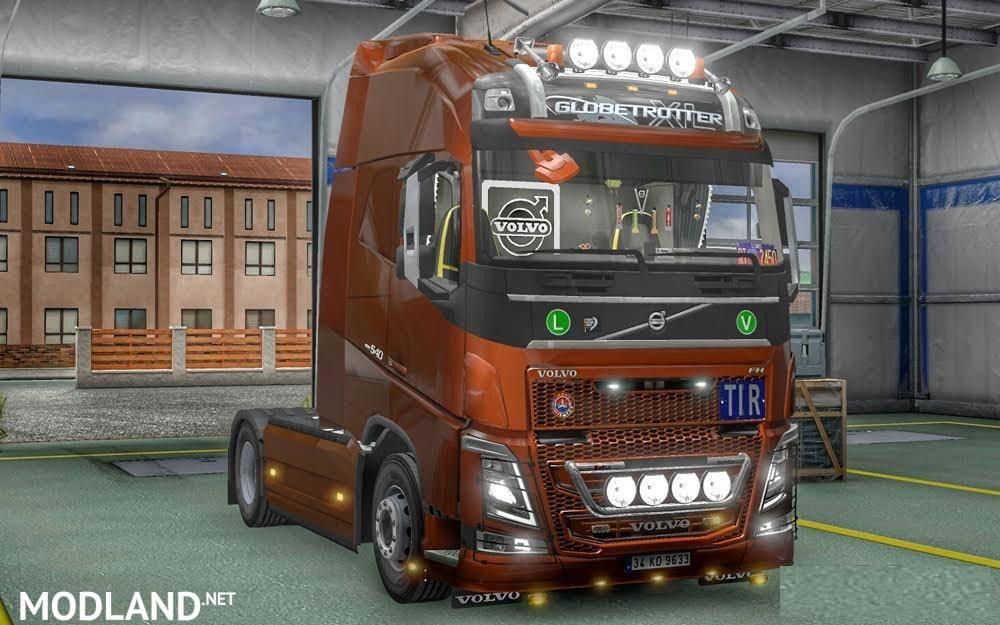 Volvo FH16 Accessories + Interior v 3 2 mod for ETS 2
