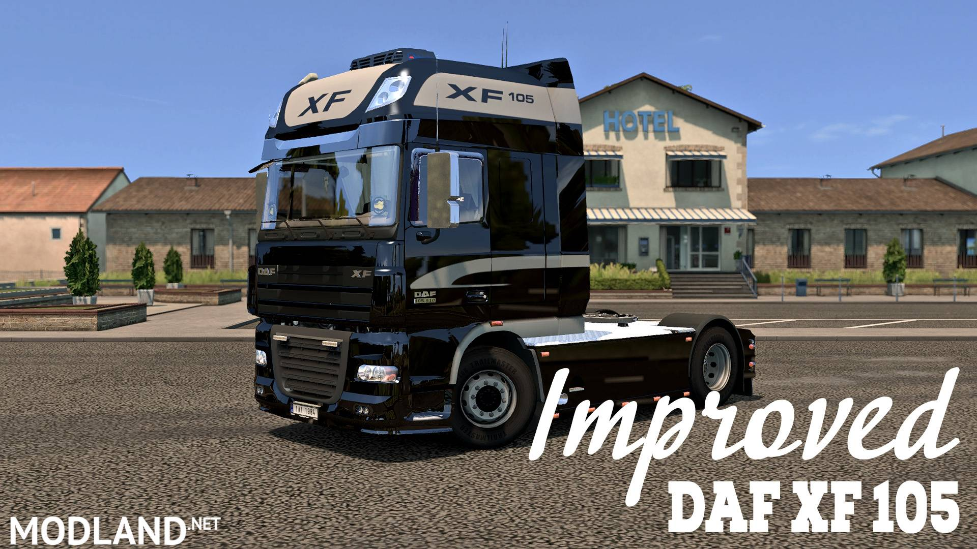 improved daf xf 105 v 1 6 mod for ets 2. Black Bedroom Furniture Sets. Home Design Ideas