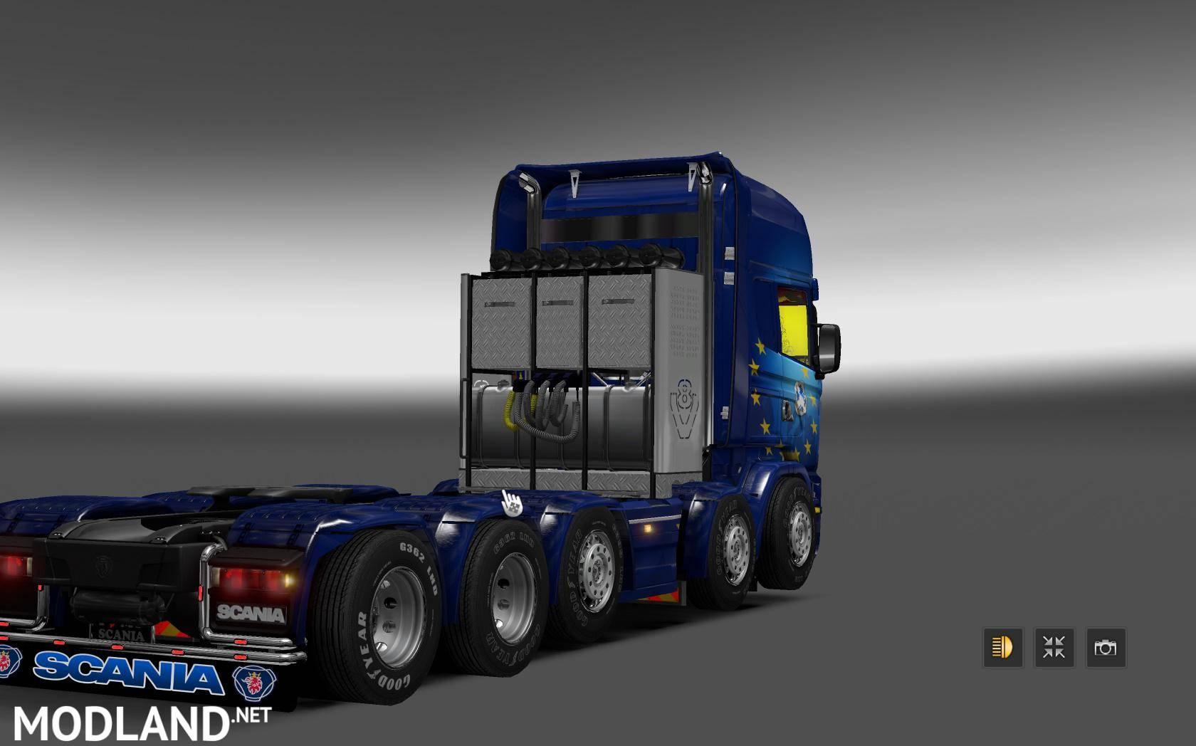 V8 illegal reworked truck v5 0 simulator games mods download -  Scania Illegal V8 Reworked V5 0 1 26 X