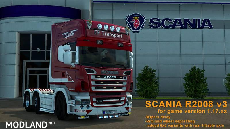 Scania R2008 Set V 1 17 Mod For Ets 2