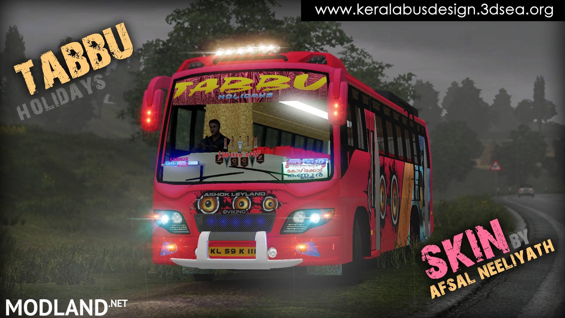 Tabbu skin for Ashok Leyland Viking v02 mod for ETS 2