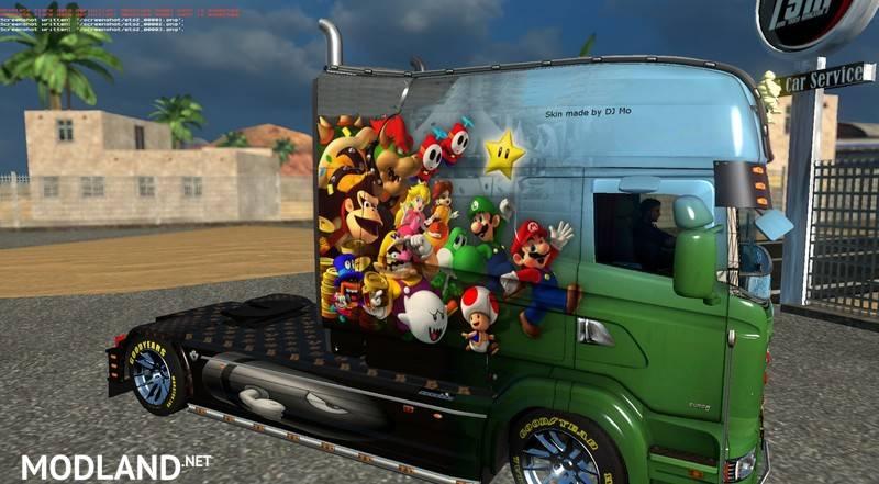 Net Direct Trucks >> Super Mario Scania RJL v 1.22 mod for ETS 2