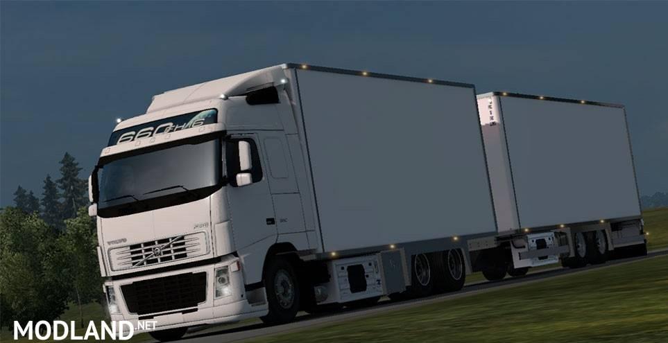 Volvo FH16 + Tandem mod for ETS 2 Scania Trucks Interior