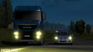 Man TGX euro6 yellow  xneon lights ETS2 1.37