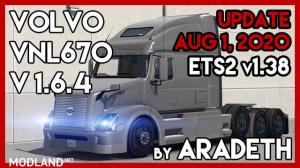 Volvo VNL 670 v 1.6.4 by ARADETH (ETS2 v1.38), 1 photo