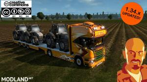 SCANIA LUPAL & TRAILER OWNED ETS2 1.34.x, 2 photo