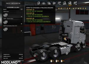 Volvo 750HP Engine And Gearbox For All Trucks V1.0 For Multiplayer ETS2 1.37, 3 photo
