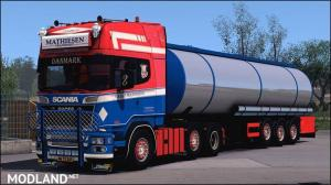 SCANIA MATHIESEN TRANSPORT + CISTERN TRAILER , 1 photo
