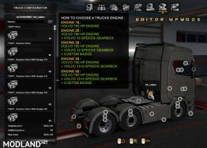 Volvo 750HP Engine And Gearbox For All Trucks V1.0 For Multiplayer ETS2 1.37, 2 photo
