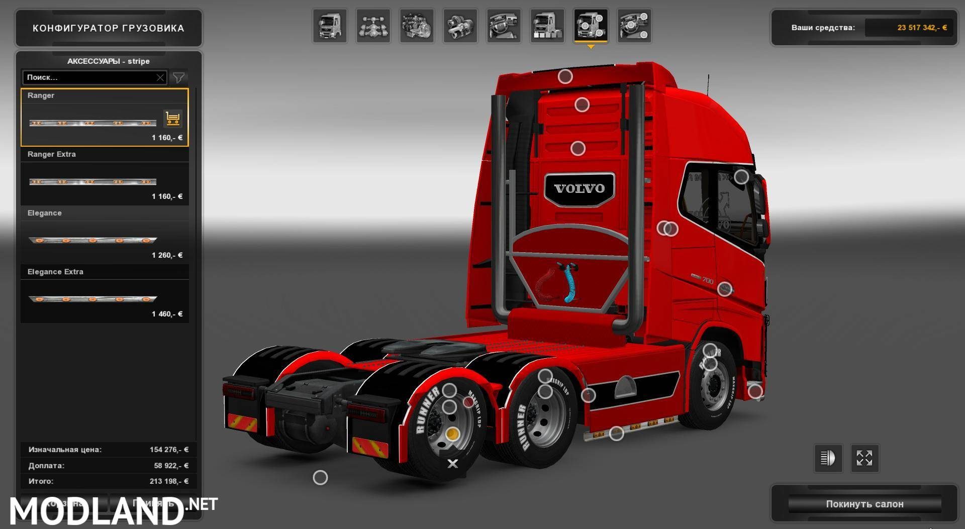 Volvo FH16 700 by Nikola mod for ETS 2