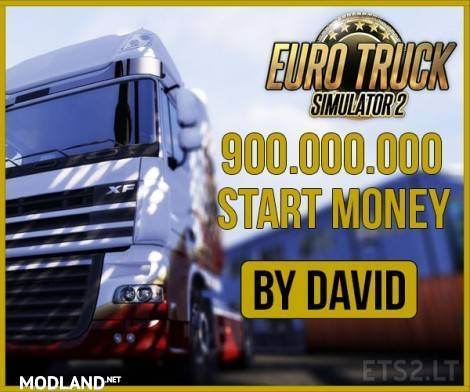 900 000 000 Start Money MOD ! mod for ETS 2
