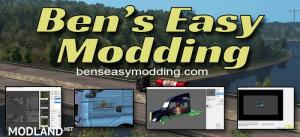Ben's Easy Modding For ATS & ETS2-Create your own mods+Tools for modders 1.35