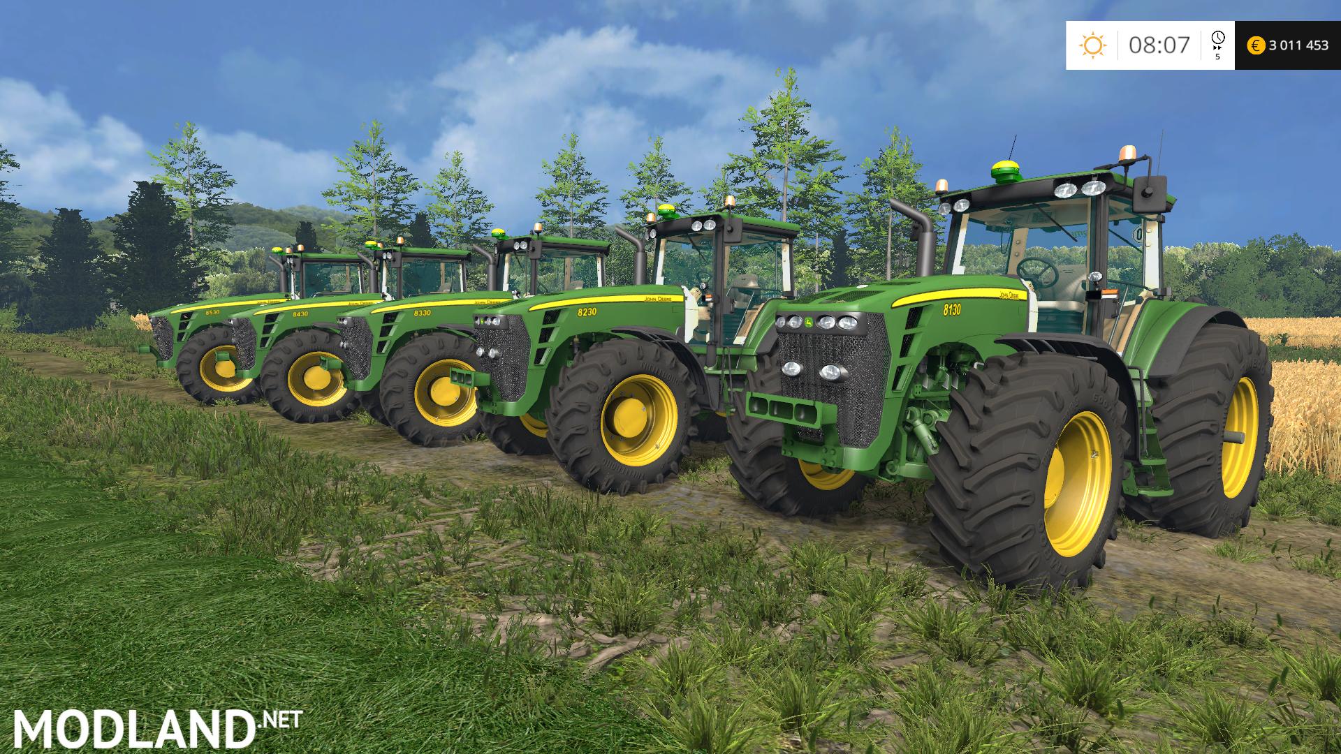 Farming Simulator Tractors : John deere pack mod for farming simulator