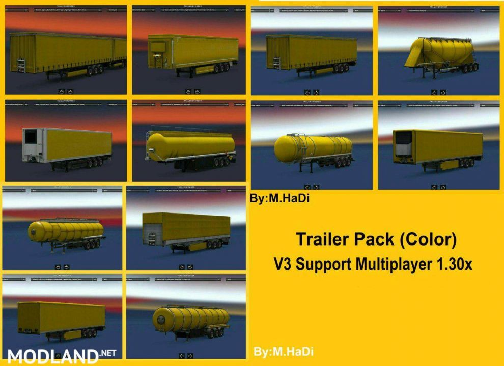 Colorful pack trailer for Multiplayer & Single player