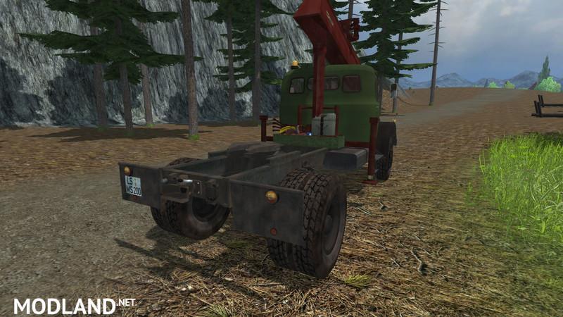 Magirus long timber semi-trailer
