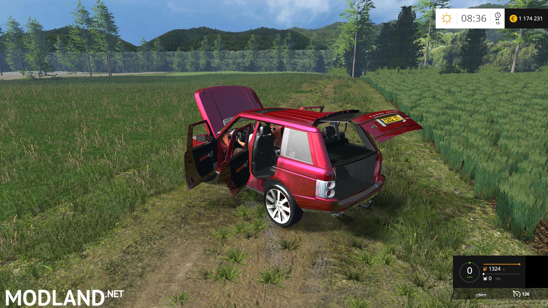 Range Rover Red V 1 0 Mod For Farming Simulator 2015 15
