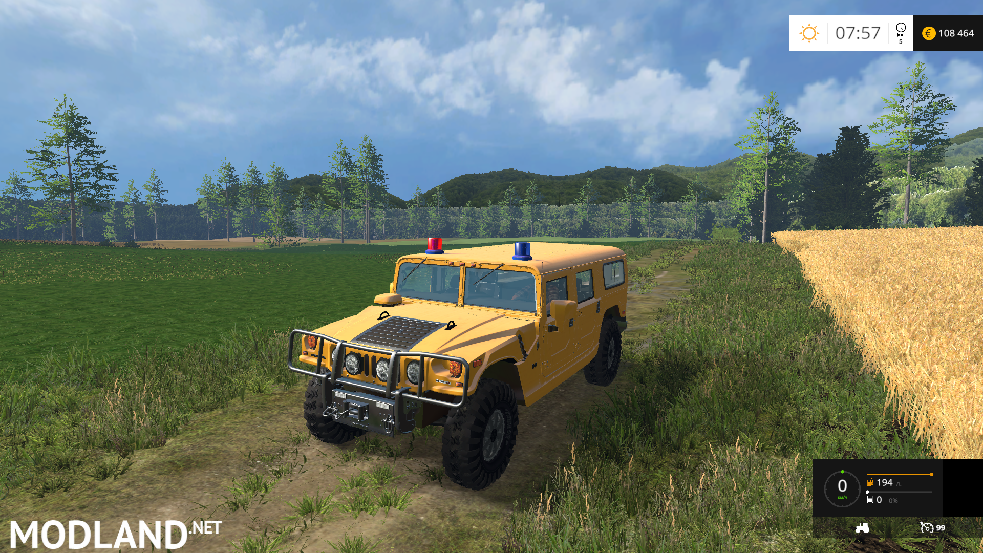 Ford F150 Weight >> Hummer H1 With Blue Red Light v 1.0 mod for Farming ...