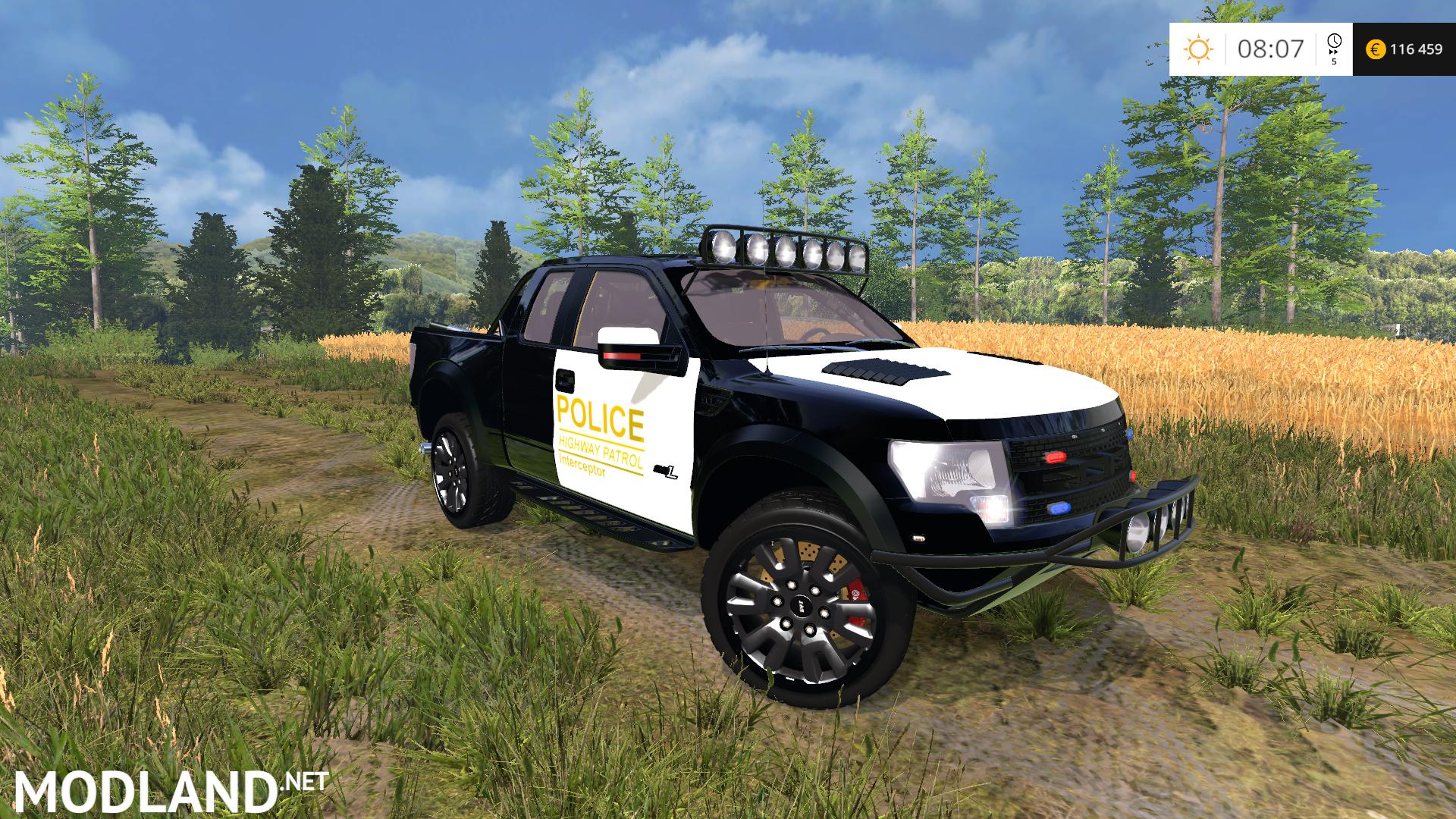 Ford F150 Police Raptor v 1.0 mod for Farming Simulator 2015 / 15 | FS ...