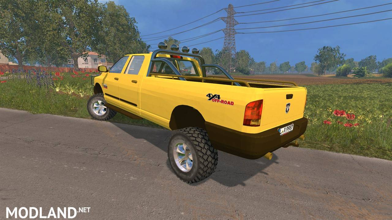 dodge ram 2500 heavy duty v 2 0 mod for farming simulator 2015 15 fs ls 2015 mod. Black Bedroom Furniture Sets. Home Design Ideas