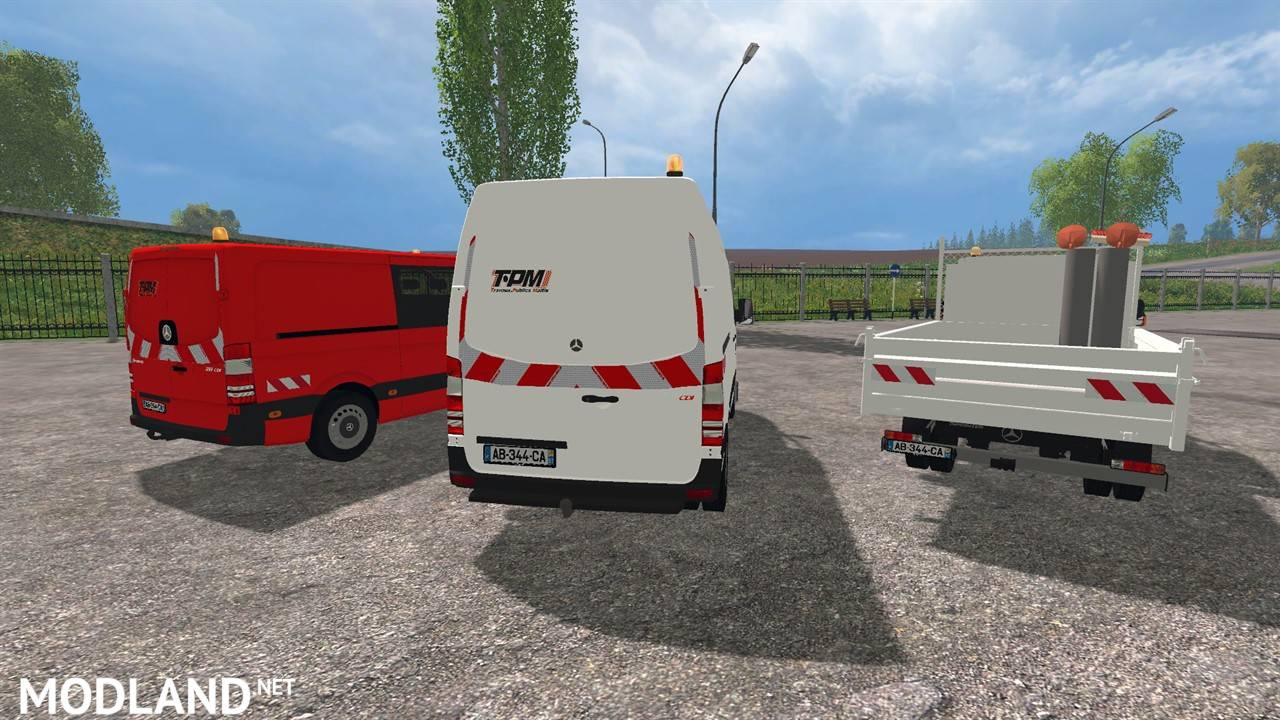 Mercedes Benz Sprinter Pack Mod For Farming Simulator 2015