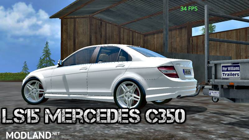 mercedes benz c350 cdi mod for farming simulator 2015 15. Black Bedroom Furniture Sets. Home Design Ideas