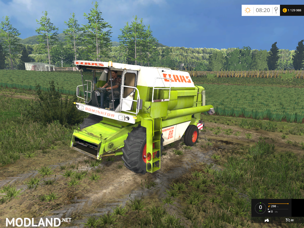 Claas Dominator 88S v 1.0 mod for Farming Simulator 2015 ...