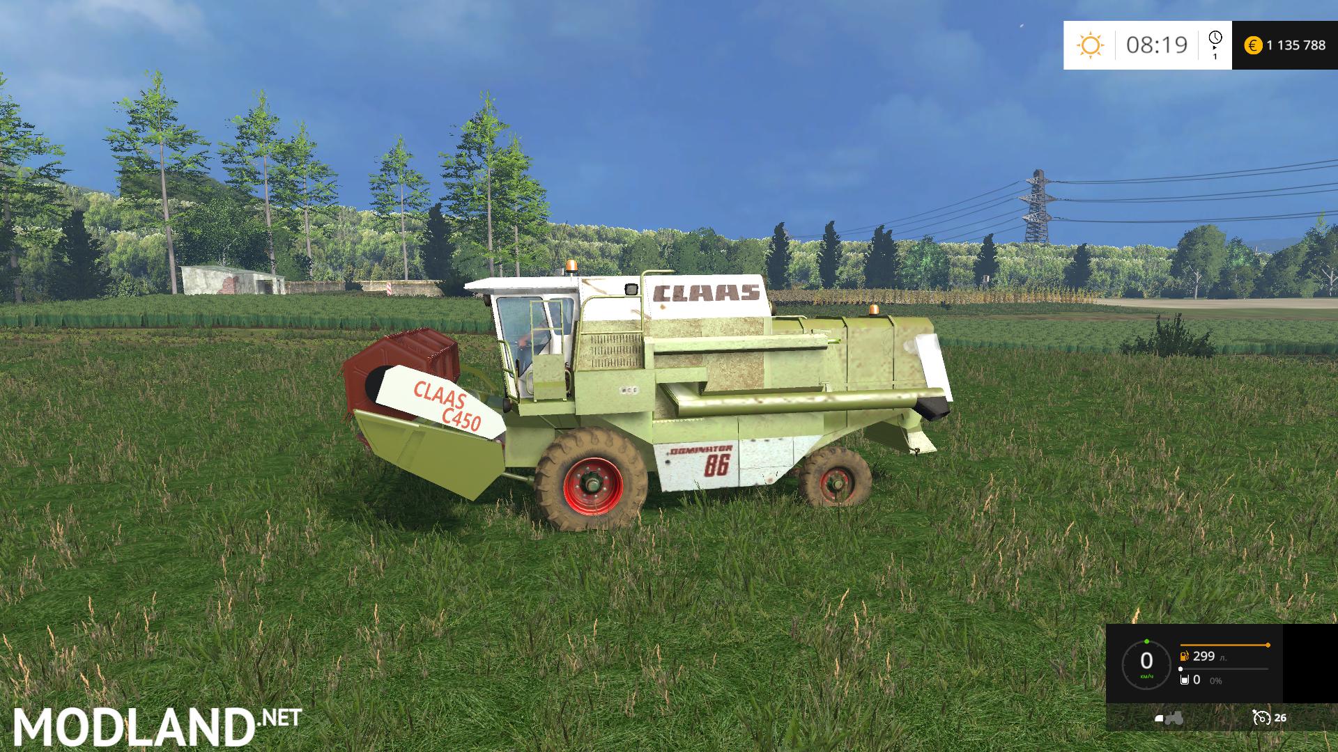 Claas Dominator 86 V 1 5 5b Mod For Farming Simulator 2015