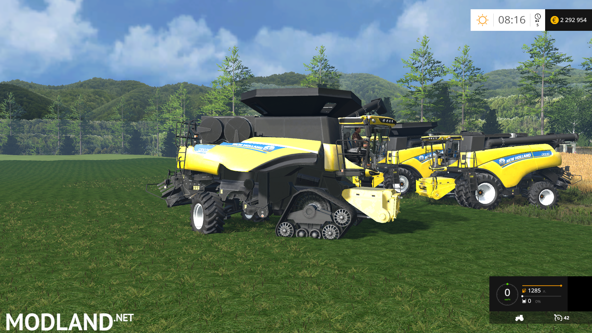 new holland combine cr v 1 3 mod for farming simulator 2015 15 fs ls 2015 mod. Black Bedroom Furniture Sets. Home Design Ideas