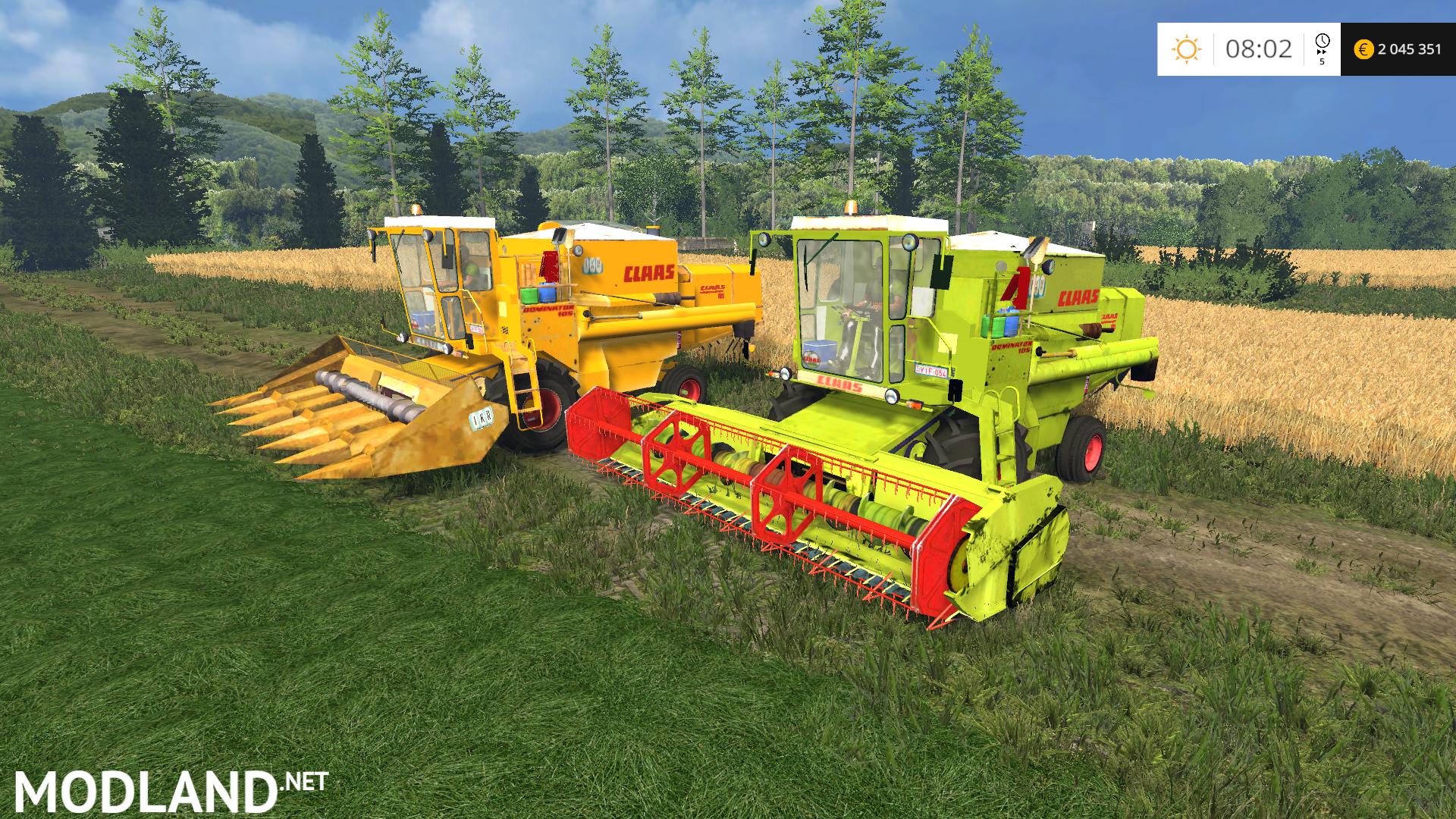 Claas Dominator 105 Pack Mod For Farming Simulator 2015