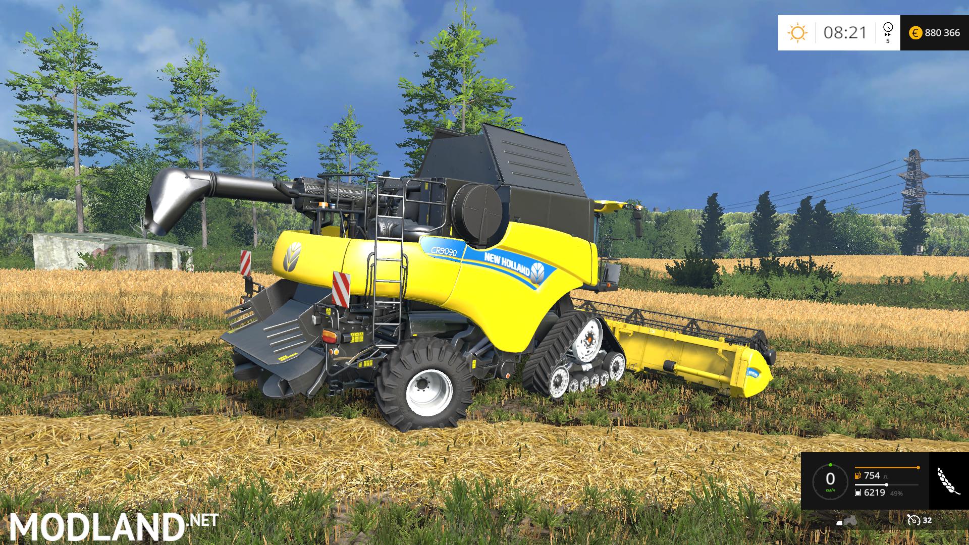 New Holland Cr 9090 Smartrax Mod For Farming Simulator