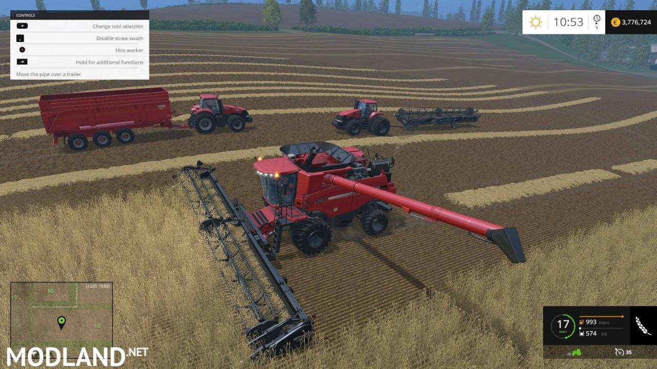 CASE IH9230 Dynamic Front Wheels Combine Pack