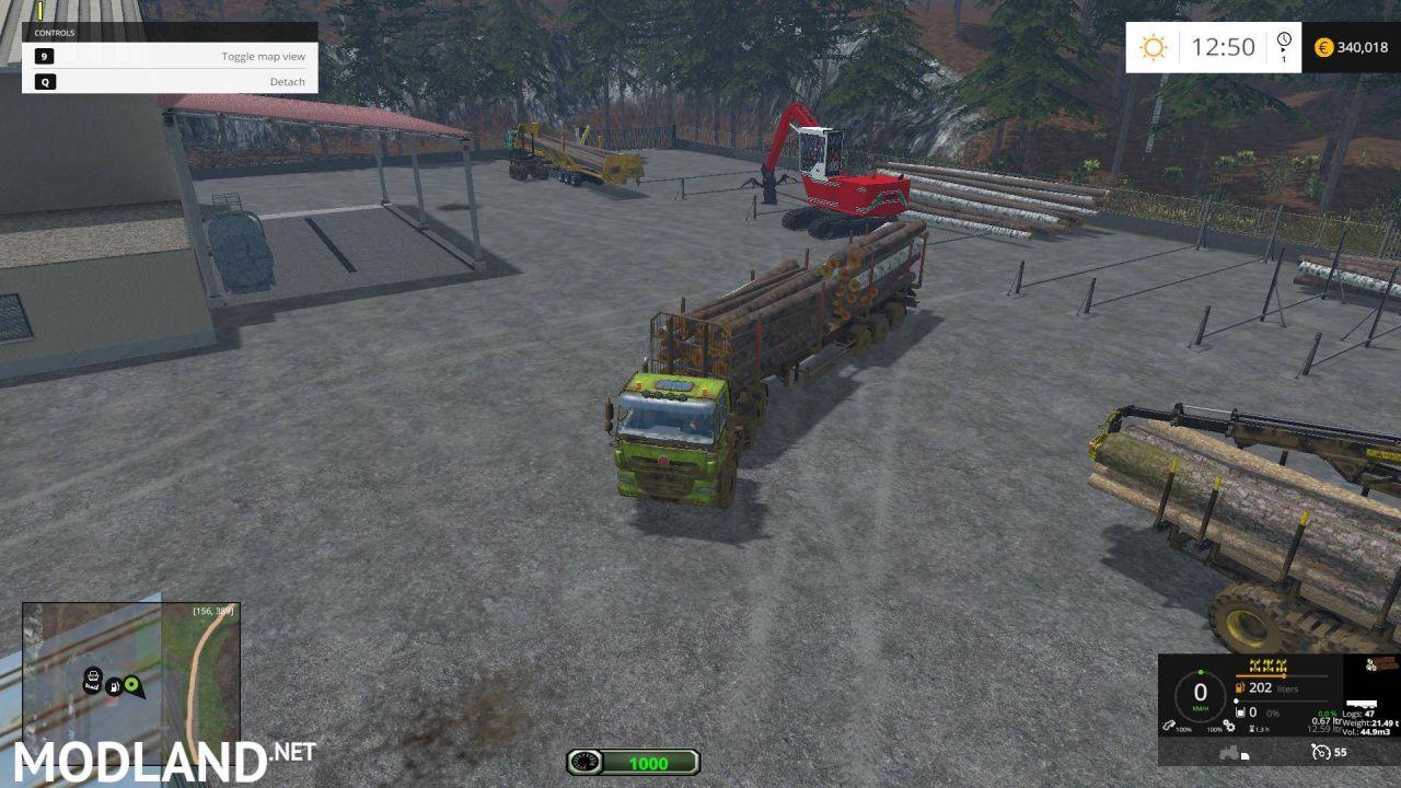 Reversing camera for truck