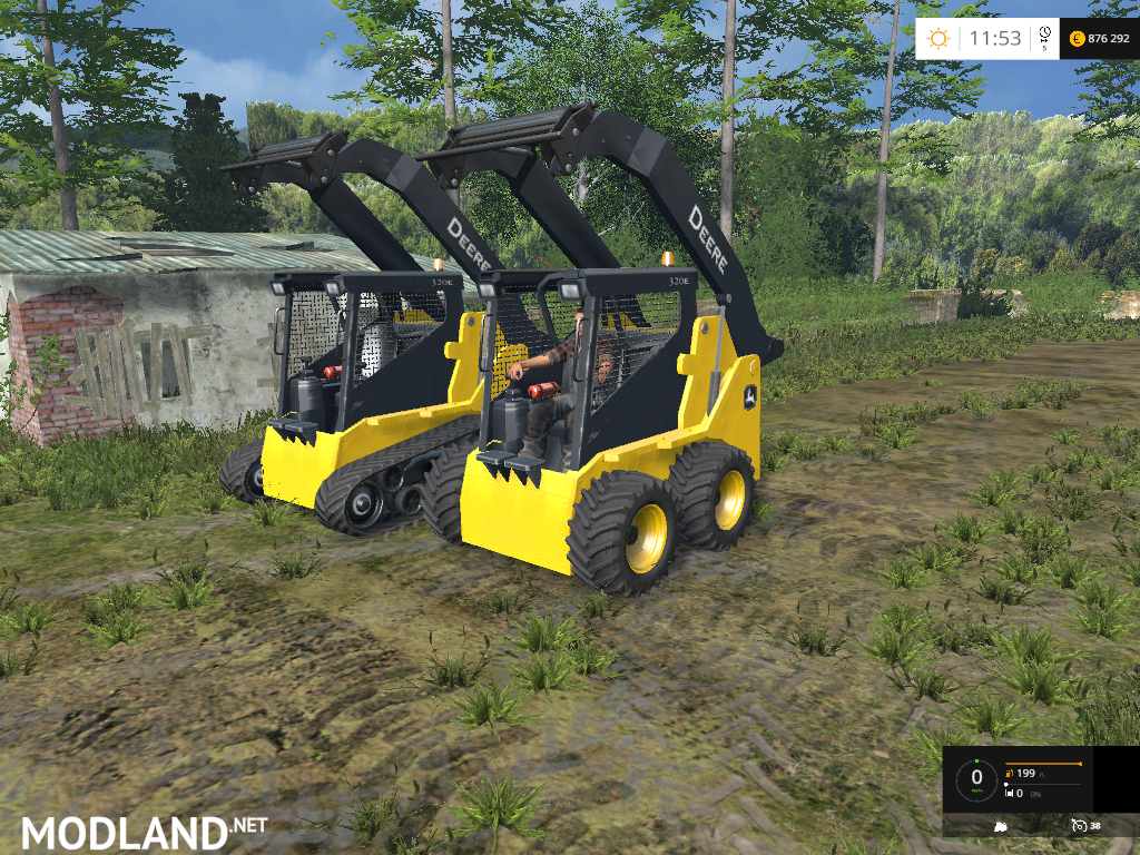 John Deere Skid Steer >> John Deere 320 Skid Steer Loaders Pack mod for Farming Simulator 2015 / 15   FS, LS 2015 mod