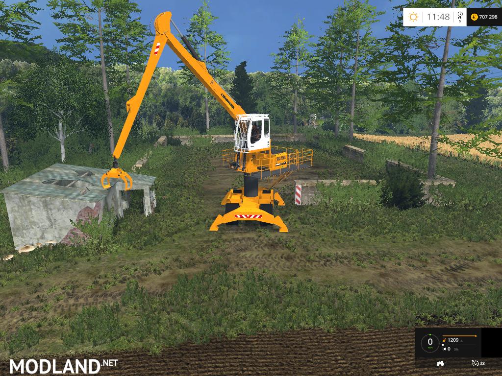 Liebherr 900c Long Reach Forest V1 0 Mod For Farming