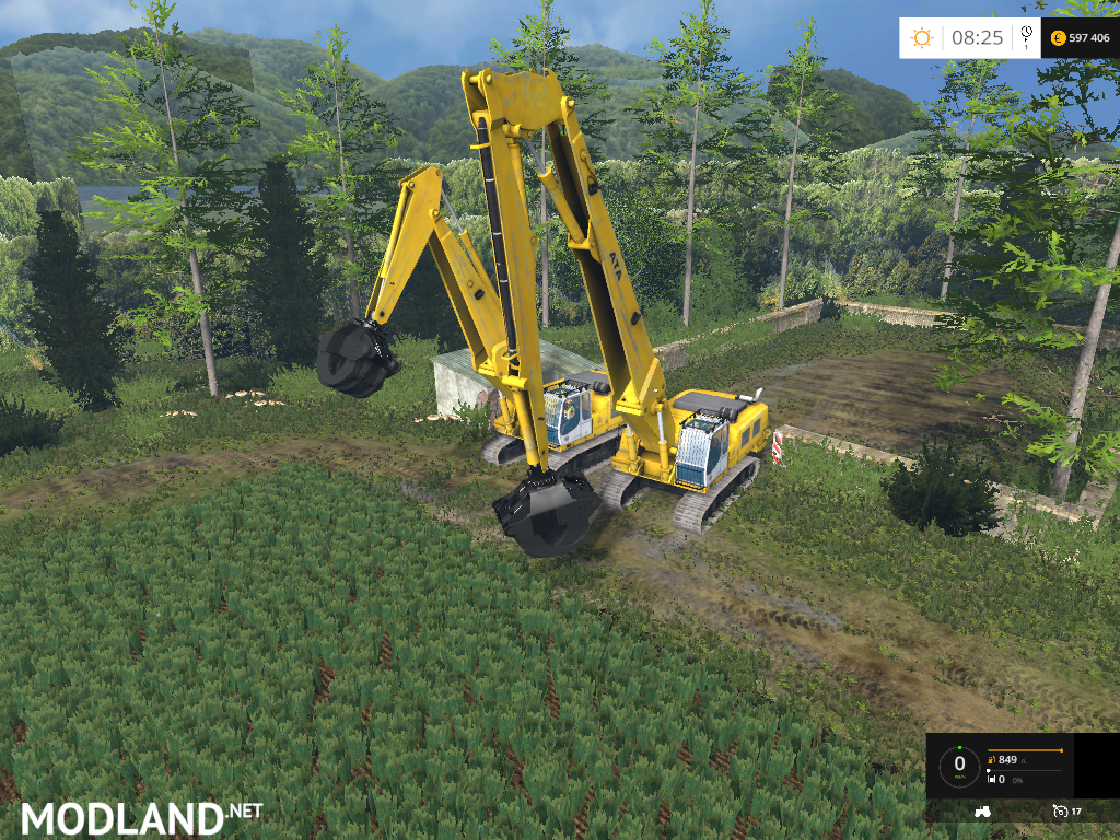 Rolo Excavator Forest Pack Beta mod for Farming Simulator 2015 / 15