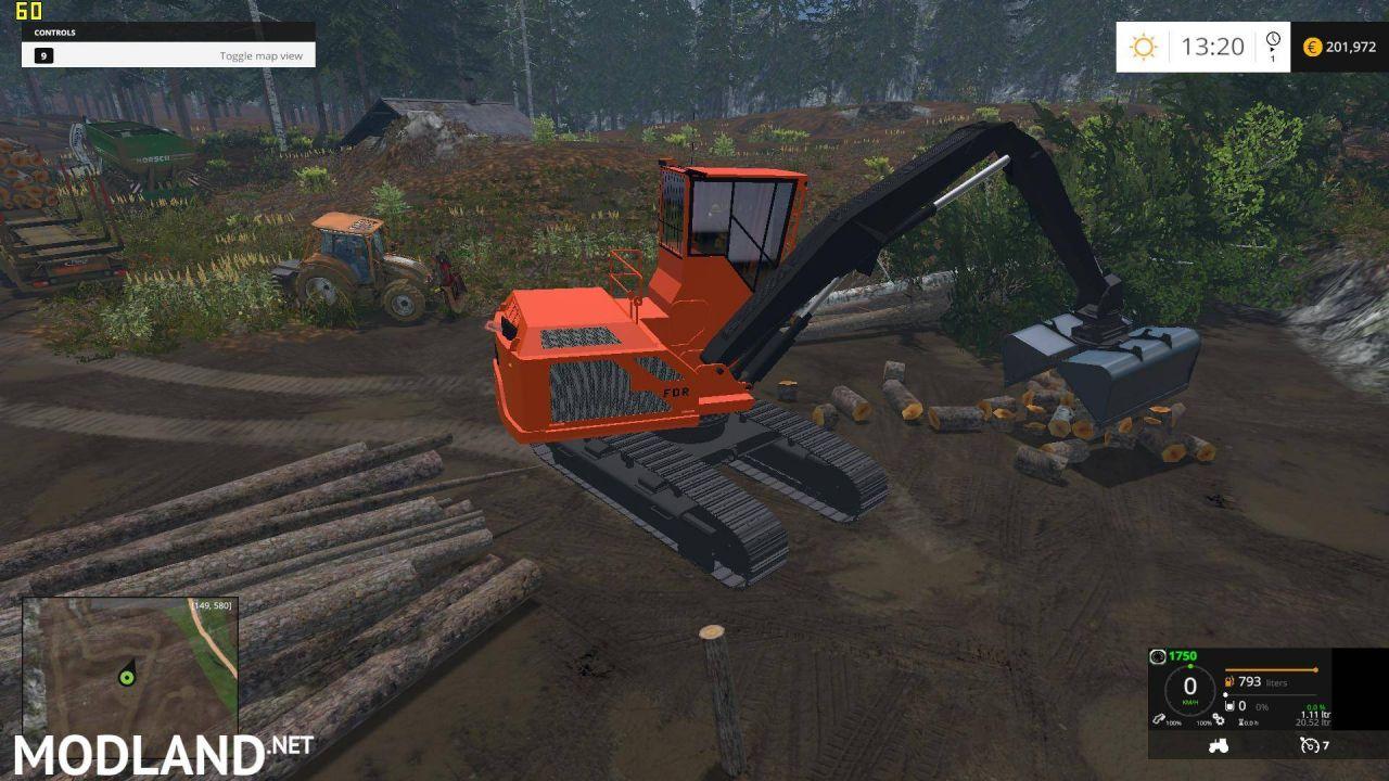 Wood Shovel Loader