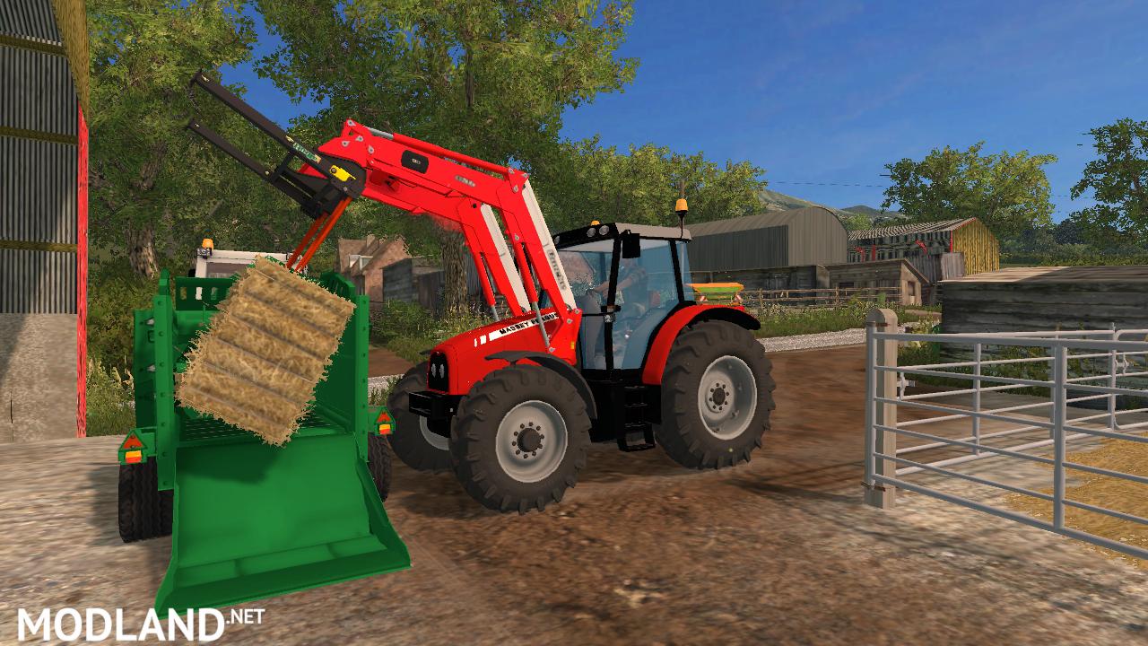McHale C460 Straw Blower & Bale Feeder mod for Farming Simulator