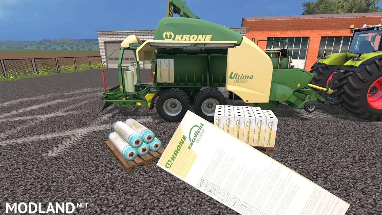 Krone Ultima Cf 155 Xc Black Wrap Mod For Farming