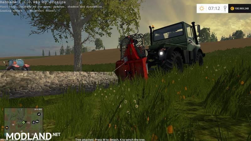 Forestry Winch - krpan winch v 1 0 BETA mod for Farming Simulator