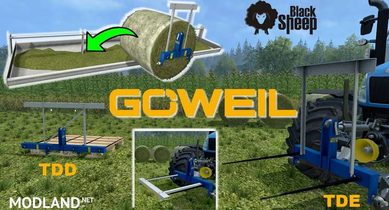 GOWEIL Pack Bale attacher and discharge feedingTrough