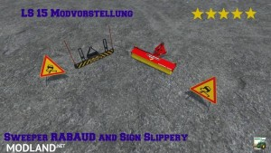 Sweeper RABAUD and Sign Slippery v 2.0, 1 photo